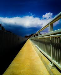 Vanishing Point (evanffitzer) Tags: bridge colour point lasvegas nevada hooverdam railing distance vanishing canoneos60d evanffitzer evanfitzer 1740mmcanonlseries