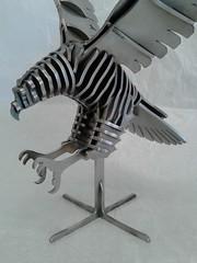 Hawk_03mm_006 (KienerAndreas) Tags: sculpture art metal 3d stainlesssteel cut steel kunst welding skulptur puzzle cutting laser sheet metall cnc stahl 3dpuzzle metalsheet lasercutting schweisen