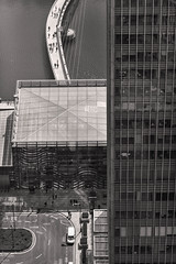 From the 45th of One Canada Square (tatzlum.photo) Tags: bridge london architecture buildings river landscape aerial docklands canarywharf streetscape 135mm riverscape nikond810 onecanadatower