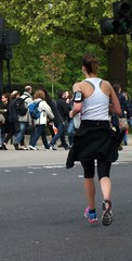 London Girl (Waterford_Man) Tags: street people london sports girl exercise path candid