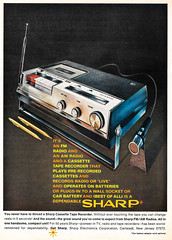 Throwback Thursday (classic77) Tags: records 1969 radio magazine back am live ad sharp advertisement tape 69 recorder thursday fm cassette cassettes throw throwback