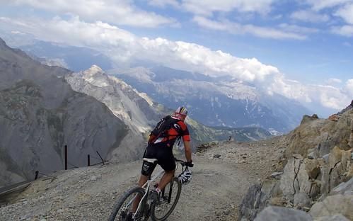 Descending Mont Chaberton