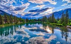 Sunset Bow River - Banff (AncasterZ) Tags: banff banffnationalpark rockies rockymountains canada bowriver hdr hdrefexpro2