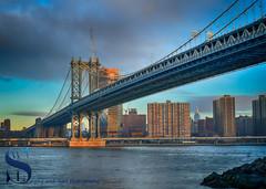 Manhattan Bridge seen from Dumbo (Singing With Light) Tags: 19th 2016 2017 alpha6500 brooklyn brooklynbridge january morningside nycmirrorless singingwithlight a6500 photography singingwithlightphotography sony