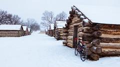 7/365 (Garen M.) Tags: harsh bicycle ride cabins aloominator fujifilmx20 vandessel cyclocross bike weather valleyforge snow
