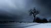 Gloomy morning (ppaschka) Tags: vormittag morgens düster baum schnee wolken strasse feld canon 700d langzeitbelichtung winter landscape landschaft