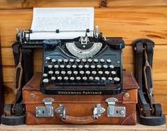 Hemingway's Underwood (romanboed) Tags: ernest hemingway underwood portable typewriter author museum leica m 240 sumilux 50 usa florida key west travel tourism america writer leather case