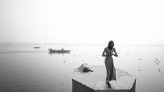 Sanyasi (Sathish_Photography) Tags: varanasi kasi banaras sanyasi yogi gangariver water monochrome bwphoto blackandwhiitephotography sathishphotography sathishkumarphotography up uttarpradesh india nikond750 tamron1530