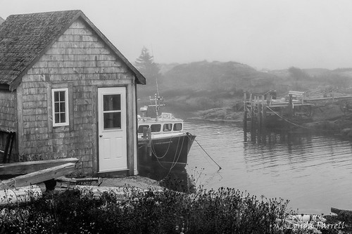 Fishing Village in the Fog