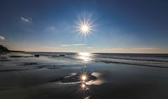 Tripple Sunshine (Andy.Gocher) Tags: andygocher canon100d canon1018mm europe uk wales bridgend treathmawr beach sunshine water sea bluesky clouds reflection reflections