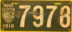 NOVA SCOTIA 1918 LICENSE PLATE (woody1778a) Tags: novascotia canada licenseplate mycollection myhobby numberplate vintage vintageautoplate crested coatofarms province