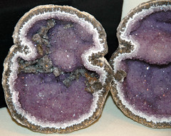 Amethyst-calcite in geode (Chihuahua, Mexico) 1 (James St. John) Tags: amethyst calcite quartz geode geodes chihuahua mexico