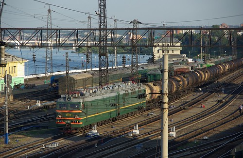 RZD VL85-208, Irkutsk railway station, Transsib line ©  trolleway
