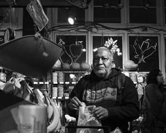 Reading Terminal Market, 2016 (Alan Barr) Tags: philadelphia 2016 readingmarket readingterminalmarket market street sp streetphotography streetphoto blackandwhite bw blackwhite mono monochrome candid people olympus penf