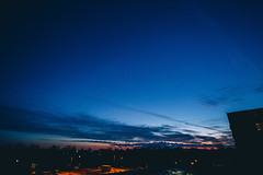 six thirty (viewsfromthe519) Tags: bluehour blue sky skyscape evening winter clouds red purple orange silhouette stthomas ontario canada