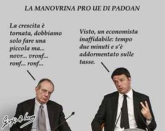 Sulle tasse pro Ue Padoan è inaffidabile (satira-italia) Tags: padoan manovra economica ue