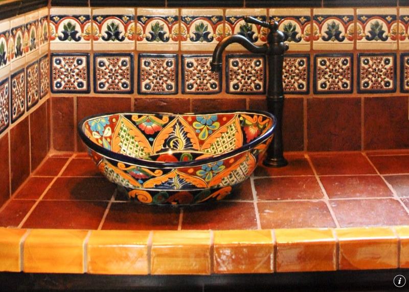 Azulejos Para Baños En Santa Fe:Mexican Talavera Tile Design