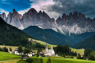 Small church in the Dolomites