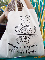 MOZ 3644 (RANCHO COCOA) Tags: atlanta zine museum illustration georgia pie design morrissey courtyard highmuseum panic thesmiths totebag blackcloud thehigh missykulik honeypie