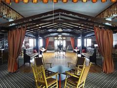 Alpine Dance Hall (lefeber) Tags: windows wisconsin vanishingpoint chairs interior perspective lodge frame tables curtains chalet dancefloor birch dancehall eggharbor doorcounty thealpineresort