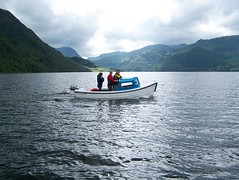 Boating on Ullswater (christianbartlett) Tags: england lake mountains water landscape boats outdoors boat scenery view outdoor lakes lakedistrict paisaje hills boating vista paysage landschaft ullswater englishlakes