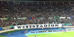 Rapid Fans want their stadium to have this name (nemico publico) Tags: vienna wien amsterdam football sterreich fussball soccer fans ajax stadion pyro league champions ultras tifo fanatics awayday htteldorf choreo ultrasrapid skrapidwien