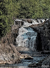 ... (Jean S..) Tags: trees summer white green texture water stone river waterfall day falls