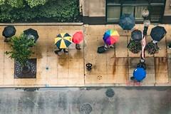 Dare to be different (Kathy~) Tags: chicago umbrella rain street city urban michigan goblue rainbow people challengegamewinner instagram 15challengeswinner