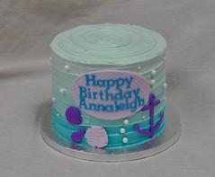 Mermaid birthday cake (jennywenny) Tags: birthday sea cake seashells under ombre pearls anchor mermaid buttercream