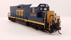 CSX - MATE (Road Slug) #2230 Dark Future Paint Scheme (Prototype Painted around April 2010) - Former GP35 (Engineer Front 3-4) - HO Scale - KATO kit-bash - July 29, 2015 - K. Crawley (dcmkris) Tags: atlas csx hoscale gp402 custompainted darkfuture roadslug mothermate