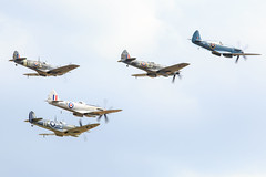 Duxford's final, the Balbo (Sbastien Locatelli) Tags: canon eos flying is aircraft aviation meeting aeroplane 300mm formation airshow merlin ww2 l vic spitfire usm ef f4 warbird avion 6d iwm supermarine seafire arien 2015 balbo sbastienlocatelli duwford