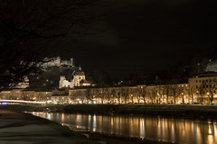 illumination (bighands@yahoo.com) Tags: nightphotography travel salzburg castle river austria nikon europe nikkor europeancity nikond3200 travelnightphotography