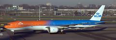 Boeing 777-306 PH-BVA (707-348C) Tags: amsterdam schiphol klmroyaldutchairlines klm boeing777 boeing ams triple phbva orangepride passenger airliner jetliner b77w b773 specialcolours eham