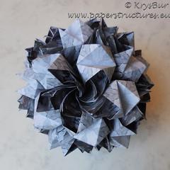 Scream (K16059) (Origami Spirals) Tags: curler paper fold twirl origami burczyk folding art krysbur