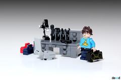 Hobby (Devid VII) Tags: hobby devid devidvii details detail minifig weapon desk lego moc