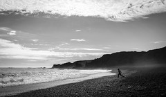 Beach (Thomas Geiregger) Tags: explored explore x100s fujifilm fuji street streetphotography geiregger thomas iceland beach sand best 35mm people monochrome blackandwhite bnw bw
