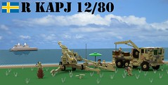 "12 cm kan m/1980 ""KARIN"" (Matthew McCall) Tags: lego military army coastal defense gun artillery sweden swedish cold war"