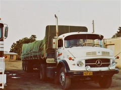 photo by secret squirrel (secret squirrel6) Tags: secretsquirrel6truckphotos craigjohnsontruckphotos australiantruck mercedesbenz tarp potatoes classic vehicle trucking bigrig thorpdale olddays 1980s 1986 southerncrosstrailers beast