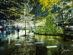 Nostalgia (retroSPecktive) Tags: xmas christmas lights new york rain city reflection colors melancholy nyc manhattan night