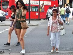 Ben-Hur (Waterford_Man) Tags: hot girl summer mobile phone shorts girls candid people london
