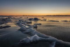On The Ridge (mattiboeschoten) Tags: seascape water sea rocks snow ice winter helsinki scandinavia finland suomi sunrise sun longexposure nikon d750 1424
