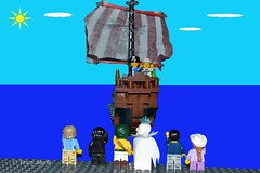 Bon voyage (366/366) (Tas1927) Tags: 366the2016edition 3662016 day366366 31dec16 captainjack lego pirate minifig minifigure happynewyear
