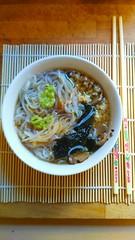 I enjoy cooking Japan style Shirataki of Konjac (angelo_ciani) Tags: shirataki konjac soup wasabi nori noodles