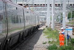 Mr Grumpy! (legomanbiffo) Tags: 390 class virgin pendolino wcml station railway maintenance keynes milton worker track rail network grumpy mr