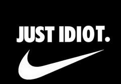 JUST IDIOT (carlosolmedillas) Tags: nike idiot justdoit justidiot juego palabras
