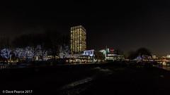 Gabriel's Wharf, ITV studios and Ernie's beach. (Dave Pearce (London)) Tags: gabriels wharf river thames london night hand held skyline itv studios coin street beach ernies 1635l canon 5dmkiii uwa