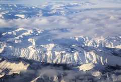 Somewhere over the Sierra Nevada Mountains (rjseg1) Tags: sierra nevada mountains fromabove