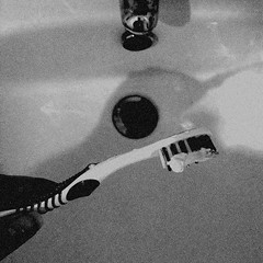 Brush (paula.calleja12) Tags: escape non cinematic life ordinary routine lifestyle home snapshots simple things cereal ceiling curtains socks stockings brushing teeth church railings london urban