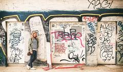 Urban Lifestyle (CoolMcFlash) Tags: person woman candid street streetphotography samsung galaxy s5 strase graffiti art phone alone standing smartphone vienna frau kunst telefonieren alleine stehen wien fotografie photography citylife city stadt urban wall wand mauer