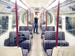 Travelling in my own city, I found my self strangely alone in one of the most crowded places in town the tube. It looked like a sci-fi setting a teleportation room conveying a sense of being Miles Away from reality. I was ready to be beamed up. After the (Stifani Brothers) Tags: milesaway